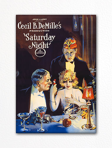 Cecil B. DeMille's Saturday Night Poster Fridge Magnet