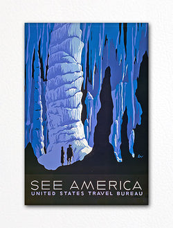 See America Carlsbad Caverns Poster Fridge Magnet
