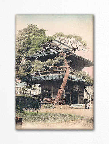 Sengakuji Temple Gate Vintage Photo Fridge Magnet