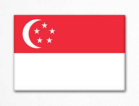Flag of Singapore Singaporean Flag Fridge Magnet