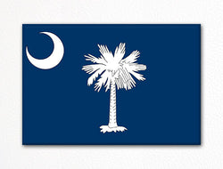 South Carolina State Flag Fridge Magnet
