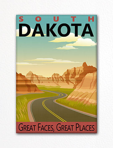 South Dakota State Travel Souvenir Refrigerator Magnet