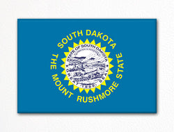 South Dakota State Flag Fridge Magnet
