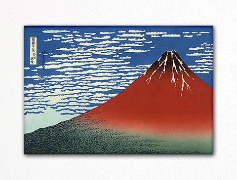 South Wind, Clear Sky Red Fuji Woodblock Fridge Magnet