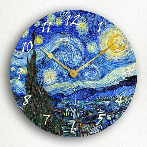 "The Starry Night Vincent van Gogh 12"" Silent Wall Clock"