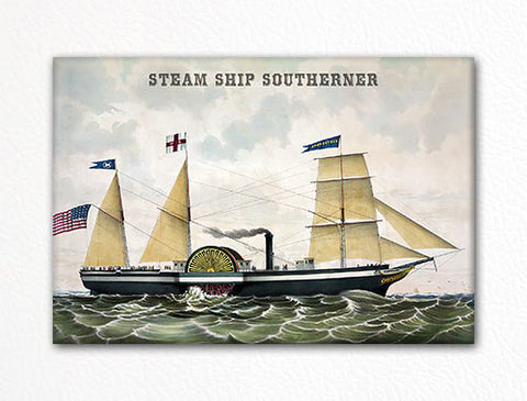 Steam Ship Southerner Fridge Magnet