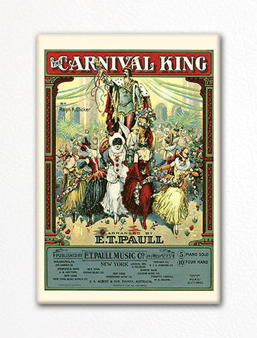 The Carnival King E. T. Paull Sheet Music Cover Fridge Magnet