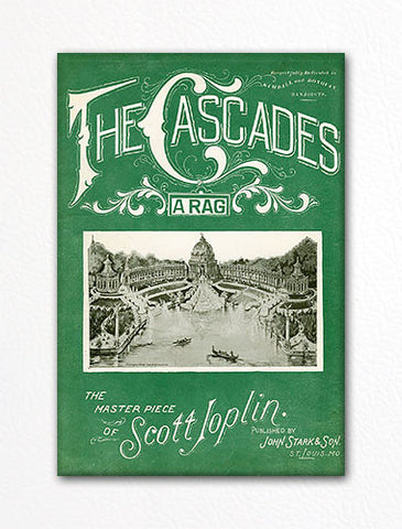 The Cascades Sheet Music Cover Fridge Magnet