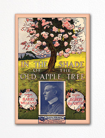 In the Shade of the Old Apple Tree Sheet Music Cover Fridge Magnet