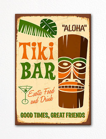 Tiki Bar Retro Polynesian Style Fridge Magnet