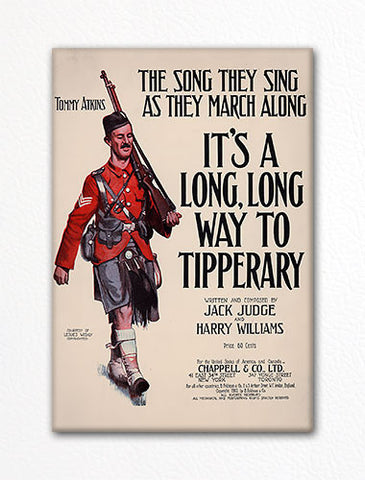 It's a Long Long Way to Tipperary Sheet Music Cover Fridge Magnet