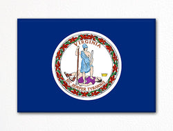 Virginia State Flag Fridge Magnet