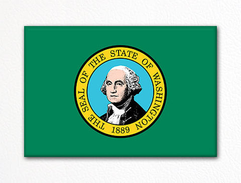 Washington State Flag Fridge Magnet