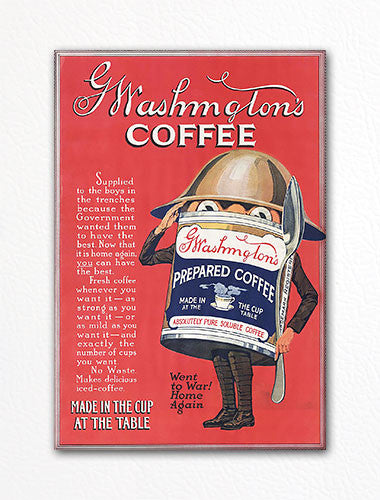 Washington's Coffee Advertisement Fridge Magnet
