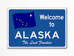 Welcome to Alaska Sign Replica Souvenir Fridge Magnet
