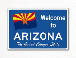 Welcome to Arizona Sign Replica Souvenir Fridge Magnet