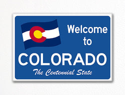Welcome to Colorado Sign Replica Souvenir Fridge Magnet