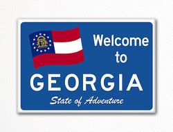Welcome to Georgia Sign Replica Souvenir Fridge Magnet
