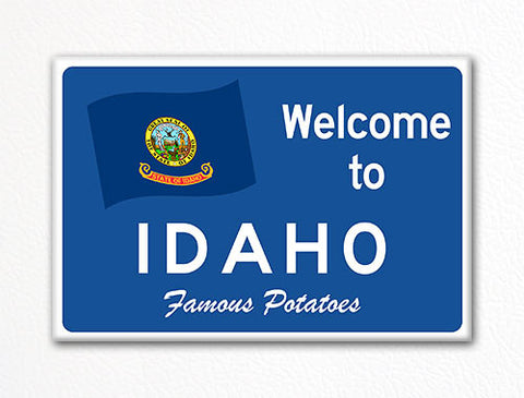 Welcome to Idaho Sign Replica Souvenir Fridge Magnet