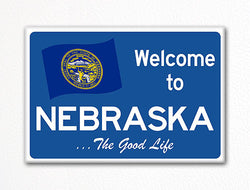 Welcome to Nebraska Sign Replica Souvenir Fridge Magnet