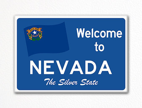 Welcome to Nevada Sign Replica Souvenir Fridge Magnet