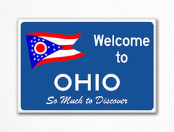 Welcome to Ohio Sign Replica Souvenir Fridge Magnet