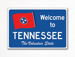 Welcome to Tennessee Sign Replica Souvenir Fridge Magnet