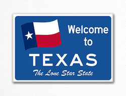 Welcome to Texas Sign Replica Souvenir Fridge Magnet