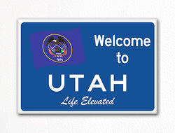 Welcome to Utah Sign Replica Souvenir Fridge Magnet