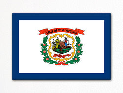 West Virginia State Flag Fridge Magnet