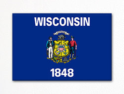 Wisconsin State Flag Fridge Magnet