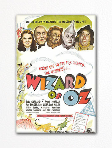 Wizard of Oz Movie Poster Artwork Fridge Magnet