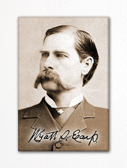 Wyatt Earp Photo Fridge Magnet