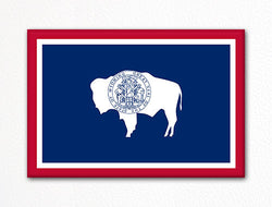 Wyoming State Flag Fridge Magnet