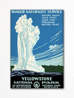 Yellowstone National Park Vintage Advertising Poster Fridge Magnet