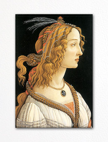 Young Woman Portrait by Sandro Botticelli Fridge Magnet