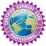 Drycleaning and Laundry Institute certification for Certified Garment Care Professional. Visit dlionline.org for more information.