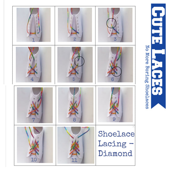 Shoelace Tying - Lacing Techniques - The Diamond
