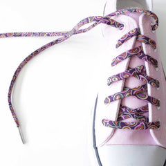 Paisley Shoe Laces in Pink Converse