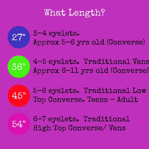 Shoelace Length Recommendations for Converse