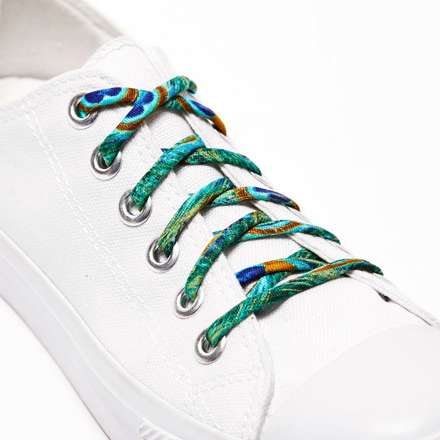 Peacock Feathers Shoe Laces Great Mothers Day Gift