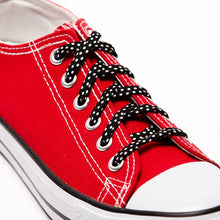 Cute Shoe Laces Black and White Polka Dots shoelaces