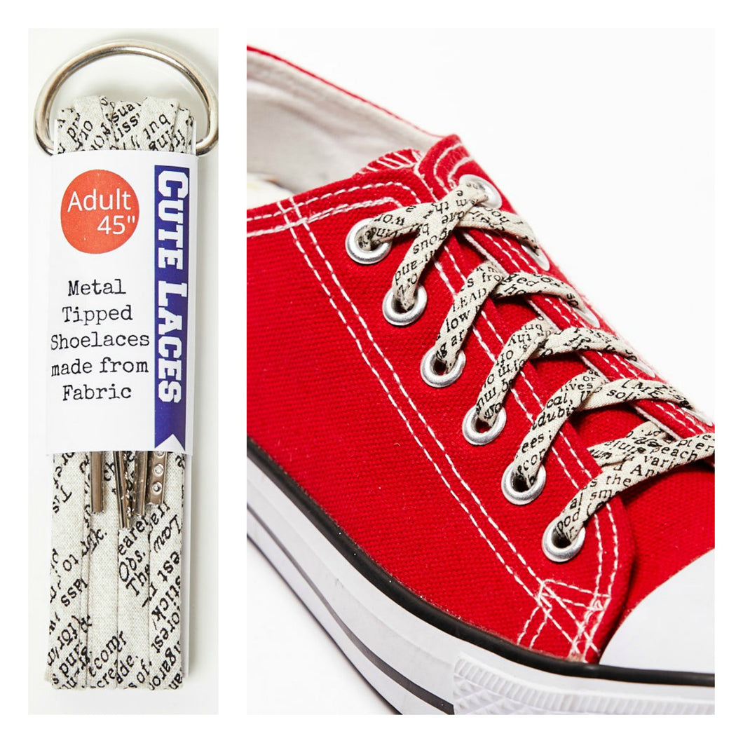 ed302a5d6c1f ... Shoelaces Covered in Words and Lettering - Perfect Gift for a Writer
