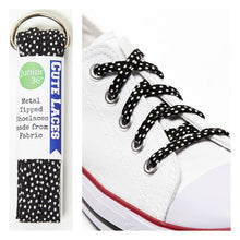 Shoelaces - Black and White Polka Dots