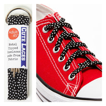 Converse shoe laces shoestrings shoelaces black and white polka dot gift