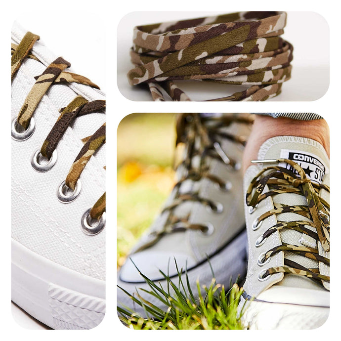 Camouflage Shoelaces - Socks Covered in Camo Print