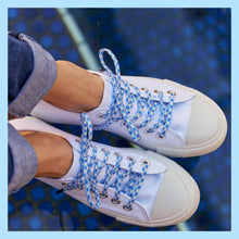 dorothy checker shoelaces in white converse for low tops and high tops