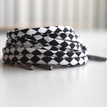 Black and White Checkered Shoelaces