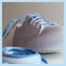 Blue Ombre Shoelaces with Metal Tips - Fun Shoestrings