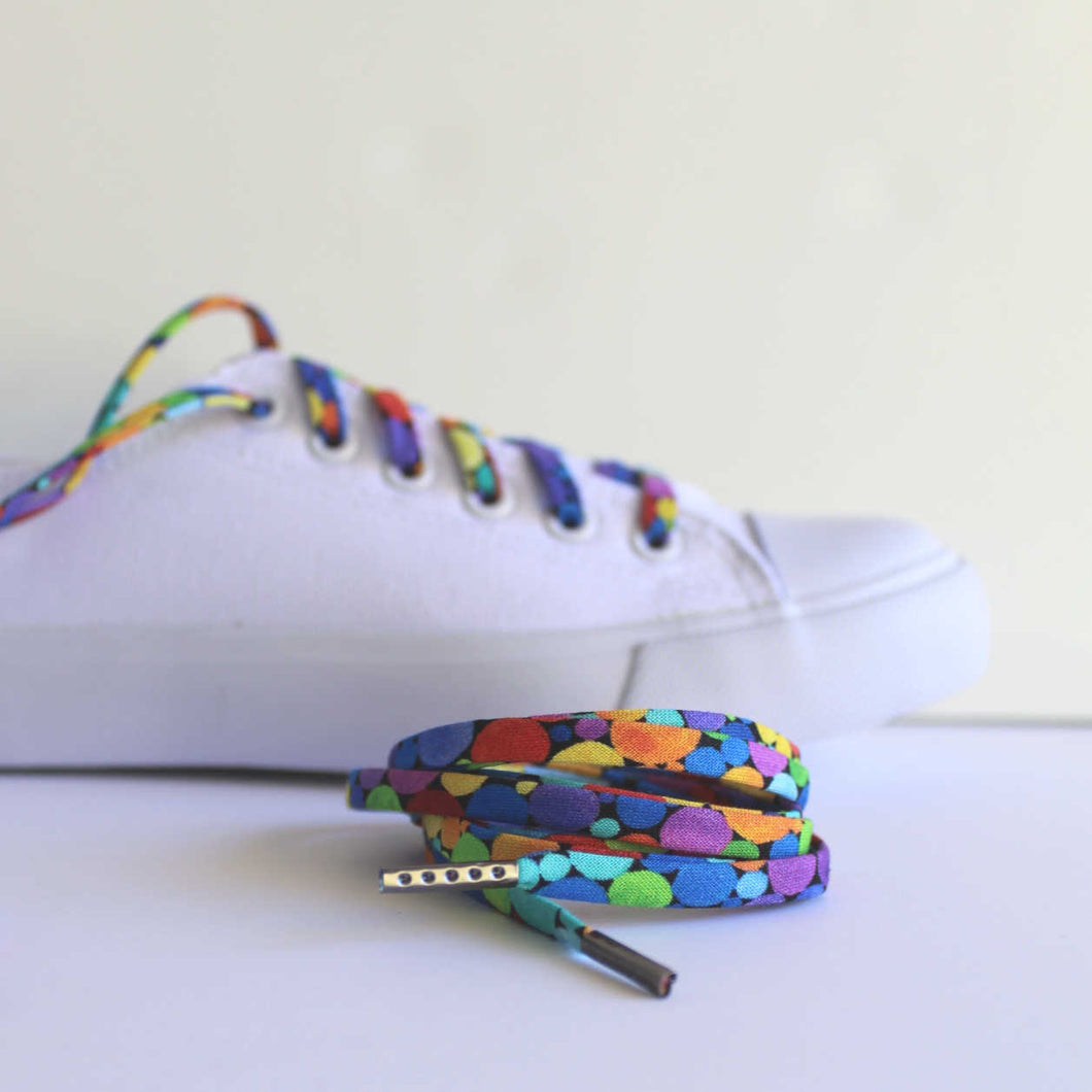 Rainbow Dot Shoelaces